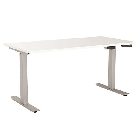 Agile Height-Adjustable Electric Desk 1200 White/Silver