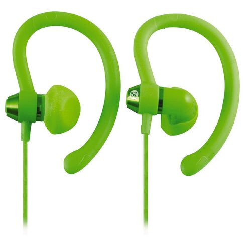 Moki Sports Earphones 90 Degrees Green