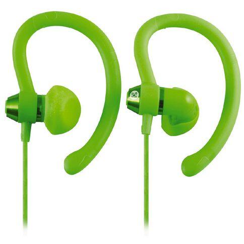 Moki Sports Earphones 90 Degrees Green