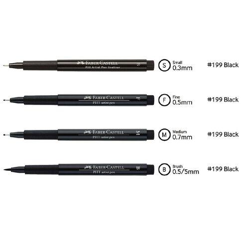 Faber-Castell 4 Pitt Artist Pens
