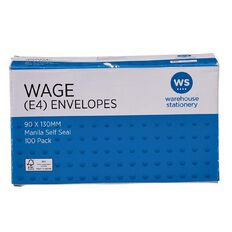 Impact Envelope E4 Wage Self Seal 100 Pack