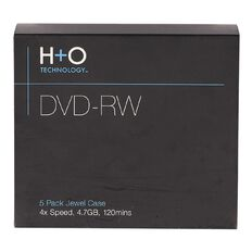 H+O Dvd-Rw 4X 4.7Gb 5-Jewel Case