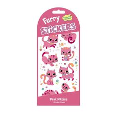 Peaceable Kingdom Stickers Furry Pink Kittens