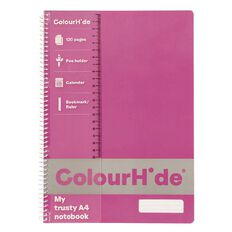 ColourHide Notebook 120 Pages Pink A4