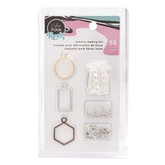 American Crafts Color Pour Jewelry Making Kit 58 Piece
