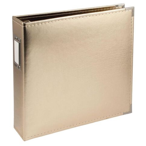We R Classic Leather Gold Ring Album 12in x 12in