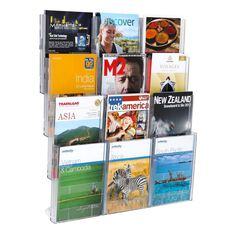 Deflecto Brochure Holder Lit Loc Wall Rack Kit 12 x A4
