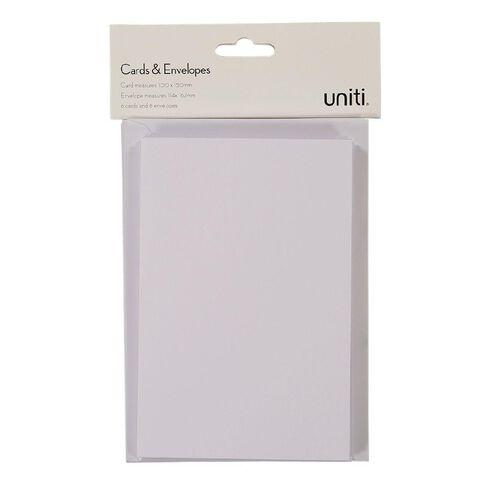 Uniti Cards & Envelopes White 6 Pack