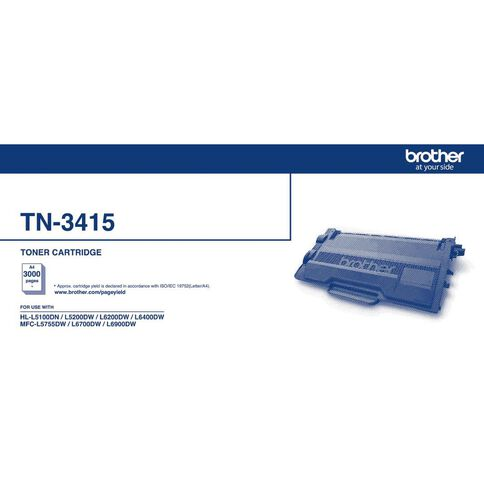 Brother Toner TN3415 Black (3000 Pages)