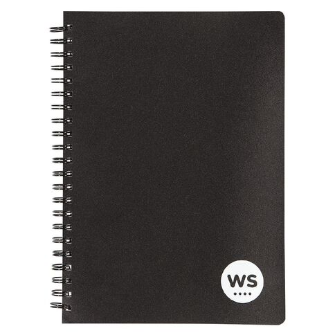 WS Notebook 5 Subject PP Wiro Black A4 240 Pages