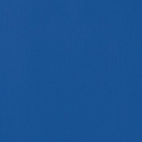 American Crafts Cardstock Textured 12 x 12 Marine Blue