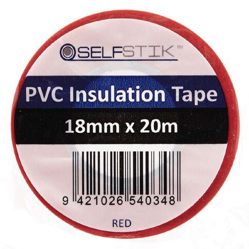 Pomona Insulation Tape PVC 18mm x 20m Red
