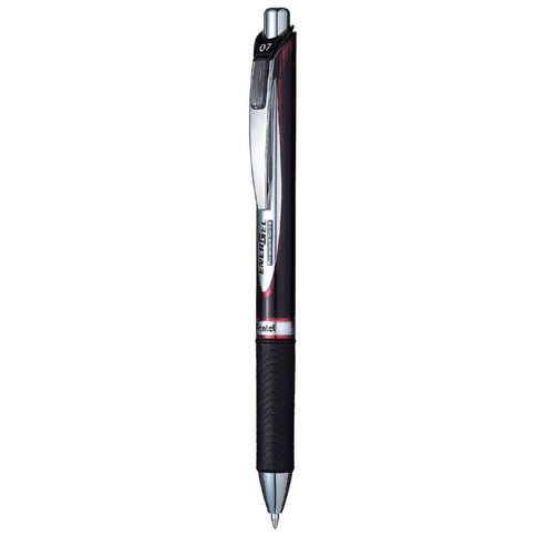Pentel Energel Retractable Pen 0.7mm Ink Red