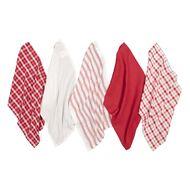 Living & Co Tea Towel Mix Set 5 Pack Red 40cm x 65cm
