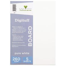 Direct Paper Digituff 260gsm 5 Pack Pure White A4