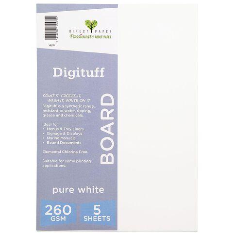 Direct Paper Digituff 260gsm 5 Pack Pure White A4