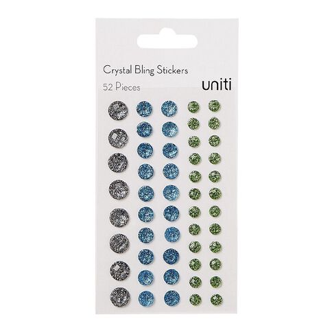Uniti Bling Crystal Sticker 52 Pieces Blue