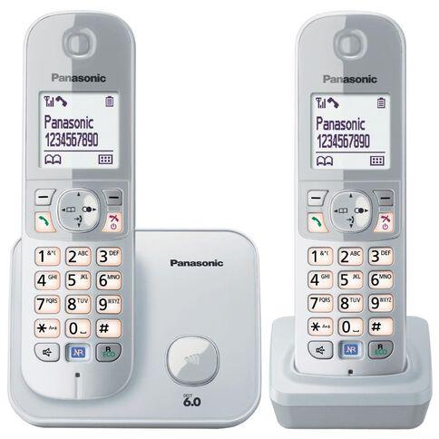 Panasonic Kx-Tg6812Nzs Twin Cordless Phone Silver