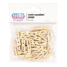 U-Do Mini Wooden Pegs 50 Piece