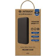 In Touch Smart V11 Milano Wallet Case Black