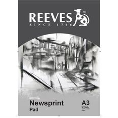 Reeves Newsprint Pad 52gsm A3