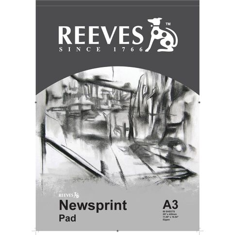 Reeves Newsprint Pad 52gsm A3 A3