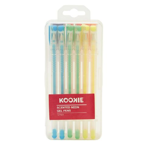 Kookie Novelty-P Gel Pens Scented Neon Mixed Assortment 12 Pack