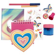 Kookie Rainbow Stationery Set 8 Pieces