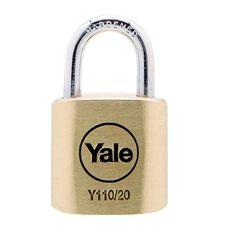 Yale 110 Series Padlock Brass 20mm