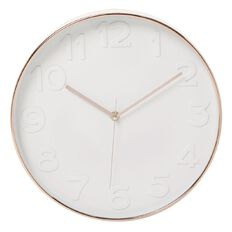 Uniti Wall Clock 30cm Rose Gold