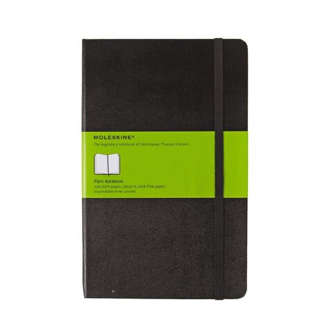 Moleskine Classic Hard Cover Large Notebook Unlined Black
