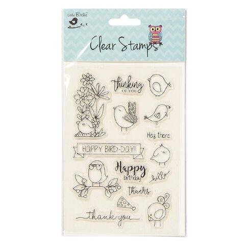 Little Birdie Clear Stamps Happy Bird-Day 15 Piece