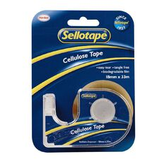 Sellotape Tape Dispenser 18mm x 33m Single Clear