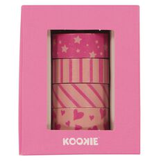 Kookie Washi Tape 4 Pack Pink
