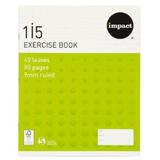 Impact Exercise Book 1I5 9mm Ruled 40 Leaf Green
