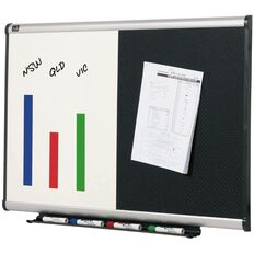 Quartet Prestige Combo Board 900 x 600mm Black