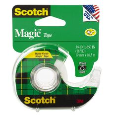 Scotch Magic Tape 122 In Dispenser 19mm x 16.5m Clear