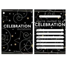 Padded Invitation 20 Sheets Per Pad Starry Celebrations