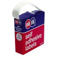 Quik Stik Labels Dots Mc19 White