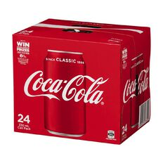 Coca Cola Soft Drink Cans 24x330ml