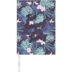 Modena 2020 Diary Day to Page Case Bound Tropical Palms A5