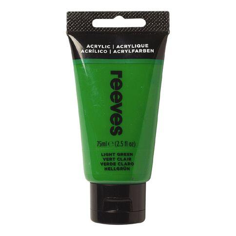 Reeves Fine Acrylic Light Green 420 75ml Green Light 75ml