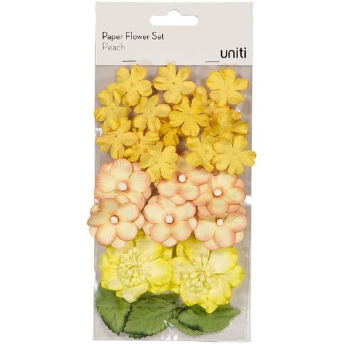 Uniti Paper Flower Set Peach