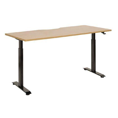 Jasper J Emerge Pneumatic Height Adjustable Desk 1800 Black/Beech