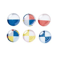 Uniti Geo Magnets 6 Pack Multi-Coloured