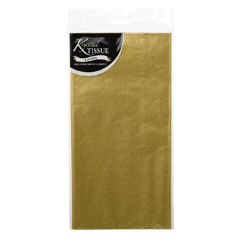 Krystal Tissue Paper Gold 500mm x 700mm 5 Pack