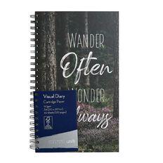 Uniti Platinum Visual Diary Spiral Wander Often Wonder Always A4