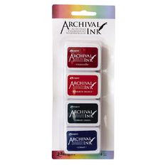 Ranger Archival Mini Ink Pads 4 Pack Autumn