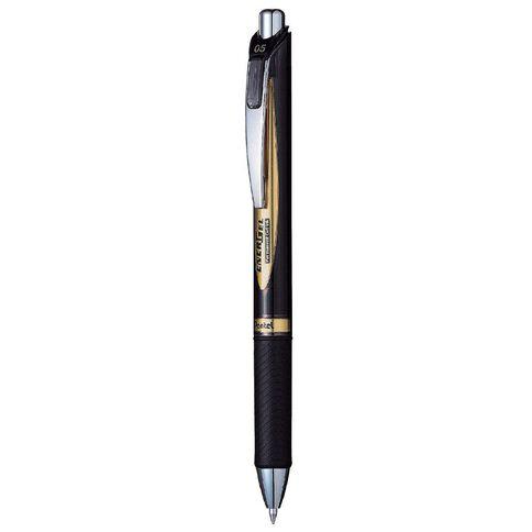 Pentel Energel Retractable Pen 0.5mm Ink Black