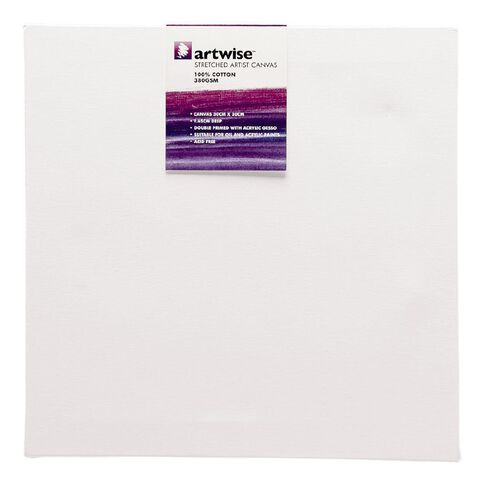 Uniti Blank Canvas 1 Piece 280 GSM White 30cm x 30cm